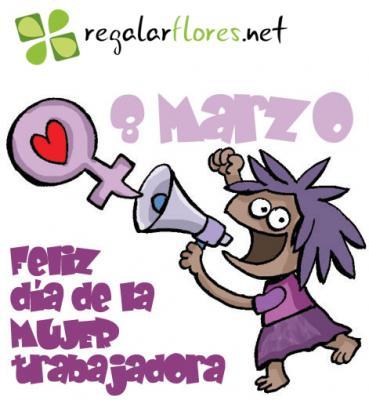 8 de marzo Regala flores Día Internacional de la Mujer